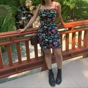 Guess Black Floral Dress